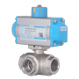 DURAVIS Pneumatic 3 Way Brass Ball Valve