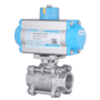 DURAVIS Pneumatic 2 Way St. Steel Ball Valve