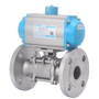 DURAVIS Pneumatic St. Steel Flanged Ball Valve