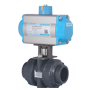 DURAVIS Pneumatic 2 Way U-PVC Ball Valve