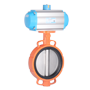 DURAVIS Pneumatic 2 Way Wafer Butterfly Valve