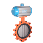 DURAVIS Pneumatic 2 Way Lug Butterfly Valve