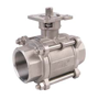 2/2 Way 3-Pieces Stainless Steel Ball Valve
