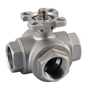 3/2 Way 3-Pieces Stainless Steel Ball Valve