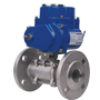 DURAVIS Electric 2/2 Flanged St. Steel Ball Valve